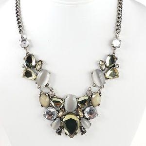 LOFT Jewelry - LOFT Statement Necklace Neutral Gray + Silver